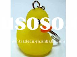 Rubber Yellow Duck Keychain