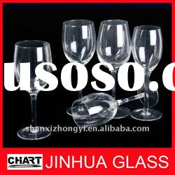 Various styles Handmade White Wine glasses Goblets Transparent and Colored Glass