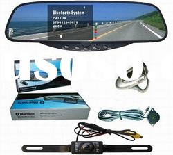 bluetooth handsfree rearview mirror kit. mobilephone iphone hands free kit