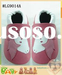 classic girl soft soled leather baby shoes with horse