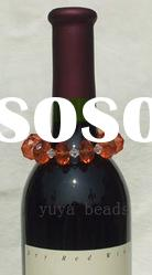 faceted beads wine glass/bottle/candle charms
