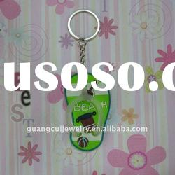 fashion sandal keychain metal key ring hook sea Island personalised keyrings key chain souvenir