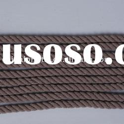 natural hemp rope and polyester rope