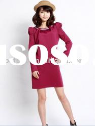 new design lady 2011 collection casual dress(F006)