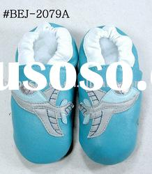 plane pattern soft sole leather baby Shoes
