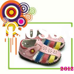 top quality soft sole genuine leather baby shoes PB-1063WH