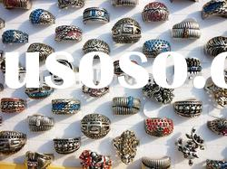 wholesale Lots fashion antique silver rings charm rings