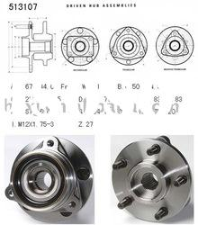 1986-1989 AMC-Jeep Truck Comanche front wheel hub bearing 513107/ 53000228