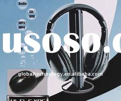5 In 1 HIFI Wireless Headphone Earphone Headset/Wireless Monitor/FM/Radio