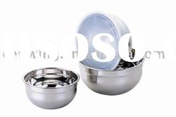 6pcs Salad Bowl Set with plastic lid