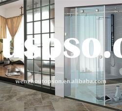 Curved Frameless Tempered Glass Sliding Shower Enclosure ,Shower Door,Shower Screen