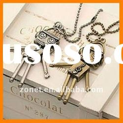 Robot Charm Lucky Charms Necklace ZHE4105