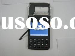 Rugged handheld barcode scanner pda with printer
