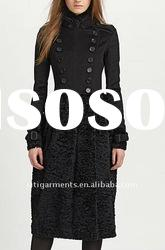 Wool/Cashmere & Rabbit Coat, women COAT fashion, women winter COAT