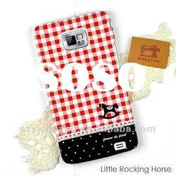 for samsung galaxy s2/hard case+water transfer printing+rubbrized