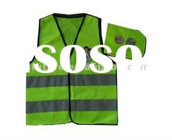 high-visibility reflective safety vest