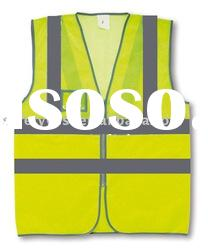 reflective safety vest with ID pocket