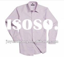 100%cotton plain dyed long sleeve slim fit fashion mens shirts