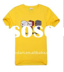 100 cotton yellow fashion boys plain t shirts for printing TT139