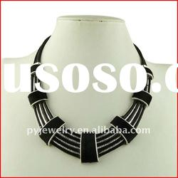 2012 Fashion Alloy Accessories,Leather Necklace,Spring Women jewellery