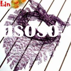2012 Fashion lady Dark purple square autumn scarf