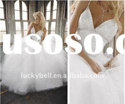 2012 Hot sale Ball Gown Spaghetti Strap Wedding dress