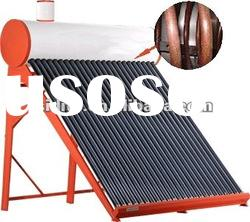 2012 hot sale /Color steel/ CE/SRCC/Copper Coil pressurized with assistant tank solar water heater