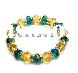 2012 newest design ab color & yellow crystal surround bracelet