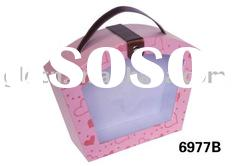 6977B portable disply box with clear PVC window