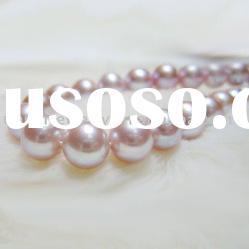 7-8mm violet loose fresh water round pearls strands
