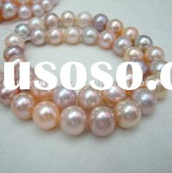 8-9mm multicolor freshwater round pearl necklace