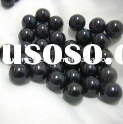 9.5-10.5mm freshwater black loose round pearl beads