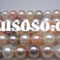 AAA beautiful multicolor freshwater round pearl strands