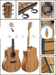 "Artiny 41""zebra wood acoustic guitar L840"