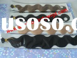 Body wave hair extension, with italy glue, pre-bond hair extension and top quality hair extension