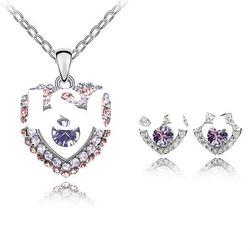 Cheap Heart Shaped Crystal Necklace Set/Fashion Jewelry Set4296-4299