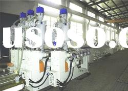 EVA/PA/PE/PP five-layer co-extruding pipe production line