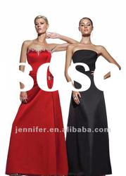 Elegant Strapless Red & Black A-line Bridesmaid Dresses (ABG182)