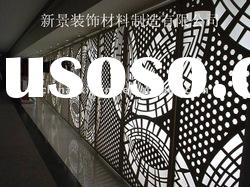 Exterior decorative metal perforared false wall panel/covering(ISO9001,CE)