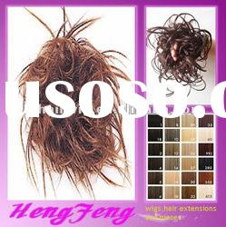 Fashion light brown synthetic hair pieces to women