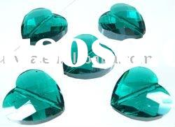 Glass crystal heart faceted with nice lustre 18mm fashion glass crystal beads