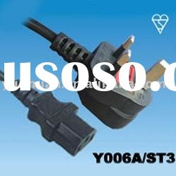 Great Britain Type Power Cords -supplier of uk cables Bsi cable main lead ac line