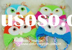 H05C035E Hand fashion Crochet Baby kufi Hats cap Beanie flower animal new born baby gifts earflap