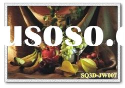 JW007,3D Lenticular Still Life Pictures/Cards, Decorative Paintings of Still Life