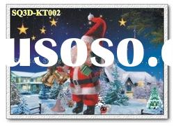 KT002,3D Christmas Paintings/Pictures/Cards,Lenticular Pictures of Christmas