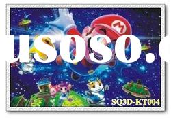 KT004,3D Super Mario Pictures/Paintings/Cards,Lenticular Pictures of Cartoon