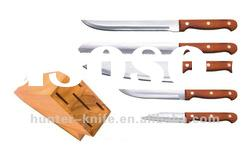 Kitchen Knife Set -6Pcs With Wooden Block