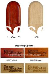 OEM mini wood usb flash disk
