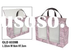 Paper cosmetic box with pvc window; Make up box