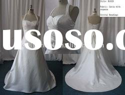 Satin Bridal Gown Halter Beaded A Lot wedding dress gown